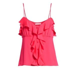Milly Emilia Ruffle Button Down Camisole